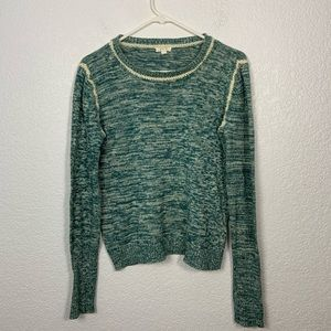 Soft joie Green Heathered Knit Sweater Small